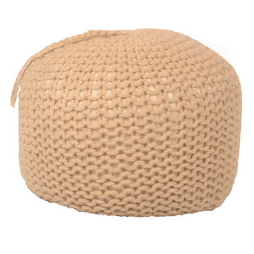 Hand Knitted Ottoman