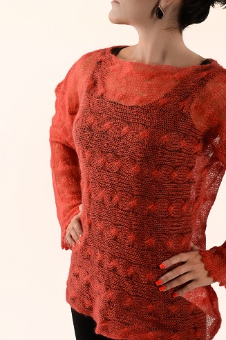 Fine Cable Knitted Sweater